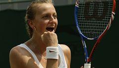 Úžasné: Kvitová spláchla Wozniackou 6:2, 6:0 a je ve čtvrfinále Wimbledonu