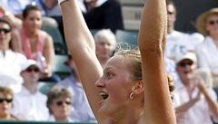 Kvitová je na grandslamu a zase vyhrává. Porazila Hradeckou