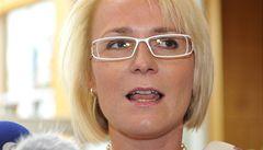 Černochová opouští poslanecké výbory. Kvůli Červíčkovi, se kterým žije