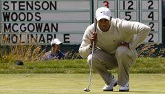 Woods se na US Open posunul na třetí místo, vede Johnson