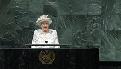 Alžběta II. po 53 letech let vystoupila ve Valném shromáždění OSN