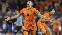 Oranžová radost. Nizozemci jsou ve finále, porazili Uruguay 3:2