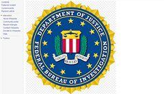 Wikipedia má na stránce znak FBI. Úřadu se to nelíbí