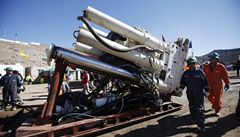 Chilští inženýři připravují 'plán B', uvízlé horníky má zachránit rychleji