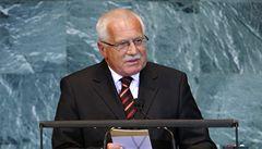 Klaus ve svém projevu v New Yorku vyzval k zeštíhlení OSN