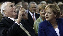 Merkelová i Kohl si připomínají 20 let od znovusjednocení Německa