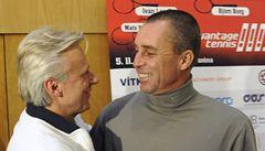Tenisové legendy Lendl a Borg si na poslední setkání už nevzpomněli
