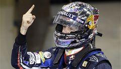 Suverén Vettel ovládl kvalifikaci, v Číně odstartuje první