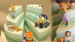 Nejen svatební dorty. Cukrárna v Záhřebu peče i ty rozvodové