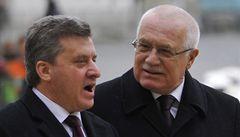 Řecko by nemělo blokovat vstup Makedonie do EU, řekl Klaus