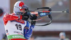 Biatlonista Šlesingr obsadil ve stíhacím závodě MS osmé místo