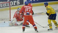 Neškodní hokejisté neměli šanci. Švédsku podlehli vysoko 1:6