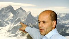 Osamocený horolezec Jaroš balí na Lhotse