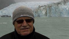Klaus u ledovců: Příroda si s námi dělá, co chce