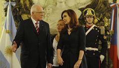 Klause v 'Růžovém domě' ohromila argentinská prezidentka