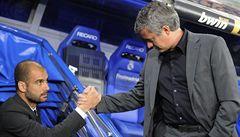 Příliš spolu nevychází. V Praze se utkají trenéři Guardiola a Mourinho