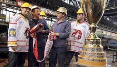 OBRAZEM: Třinečtí šampioni slavili titul v železárnách