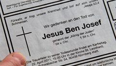 Kněz připomněl smrt Ježíše v novinách