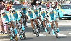 Úvodní etapu Vuelty ovládla Astana. Lídrem je Brajkovič