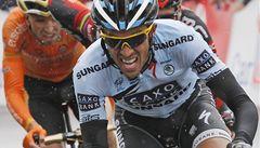 Contador zaútočil. Stačili mu jen Evans a Sánchez