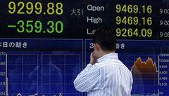 Panika se přelévá. Japonské akcie spadly, cena zlata roste