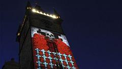 Pražský orloj ozářila videoprojekce