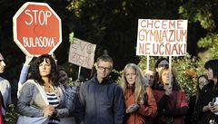 Gymnazisté v Litoměřicích stávkují, chtějí odchod ředitelky