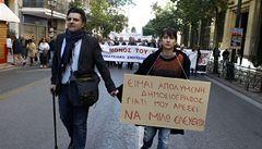 Rekordní nezaměstnanost v Řecku, výroba klesá