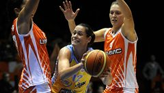 Basketbalistky USK i Brna dostaly v Eurolize lekci