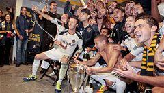David Beckham slaví titul s Los Angeles