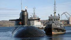 Ruští hasiči zlikvidovali požár na jaderné ponorce