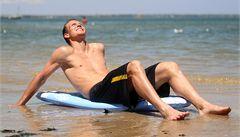Příprava na duel s Nadalem: Berdych se slunil na pláži