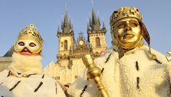 Centrum Prahy žije masopustním veselím