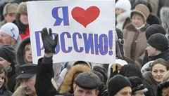 Tisíce lidí demonstrovaly v Rusku na podporu Putina
