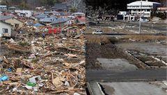 Unikátní srovnání: tak vypadá okolí Fukušimy rok po tsunami