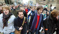 Svobodu si nenecháme vzít, křičeli studenti před vládou