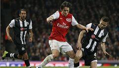 Rosický hrál po pěti měsísích. Arsenal pak dostal dva góly