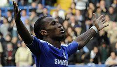 Drogbův stý gól v lize zajistil Chelsea tři body