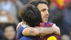 Messi dvěma góly sestřelil Santander