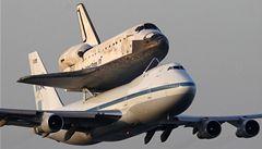 Discovery letěl do muzea na hřbetě Boeingu 747