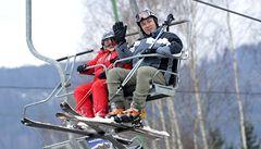 Víkendové lyžování. Letos už zřejmě naposledy