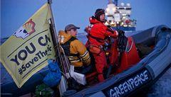 Greenpeace obsadil další ledoborec. Kvůli těžbě v Arktidě
