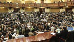 Chaos v Egyptě: parlament jednal pouhých pět minut