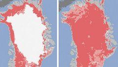 Povrch grónského ledovce zmizel z 97 procent, tvrdí NASA