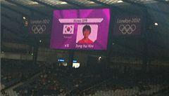 Trapas pořadatelů OH: u fotbalistek KLDR byla vlajka Jižní Koreje