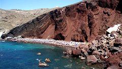 Řecký ostrov Santorini a jeho