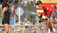 Contador si odpykal trest za doping a ovládl Vueltu