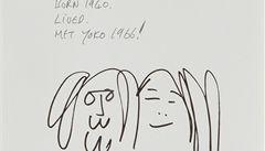 Yoko Ono vystaví neznámé kresby Johna Lennona