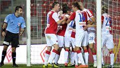 Slavia porazila Příbram 2:1 a napravila poslední dvě zaváhání
