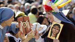 Papež prohlásil za svatou indiánku. Bránila mužům pít alkohol